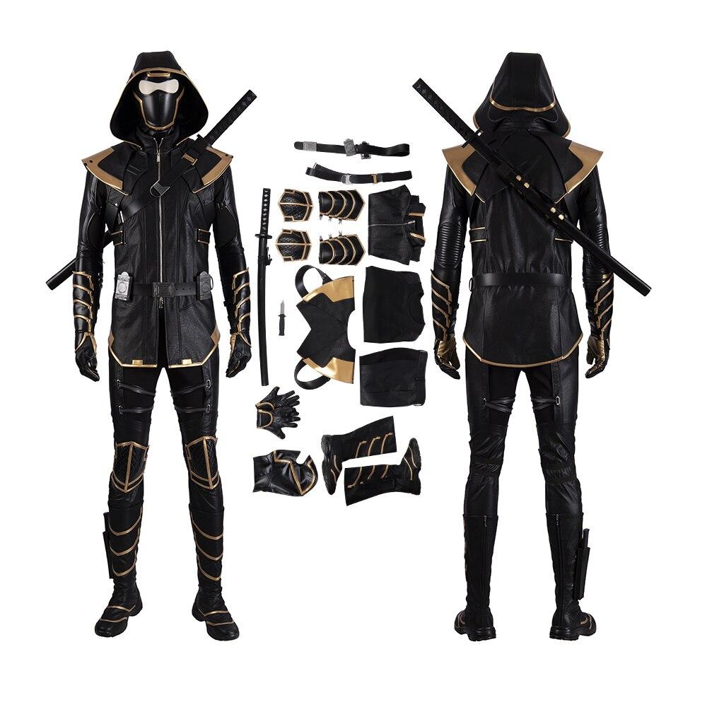 MANLUYUNXIAO 2019 Endgame Marvel Costume Cosplay Adult Hawkeye Clint Barton Hoodie Jacket Halloween Christmas Party Full Set