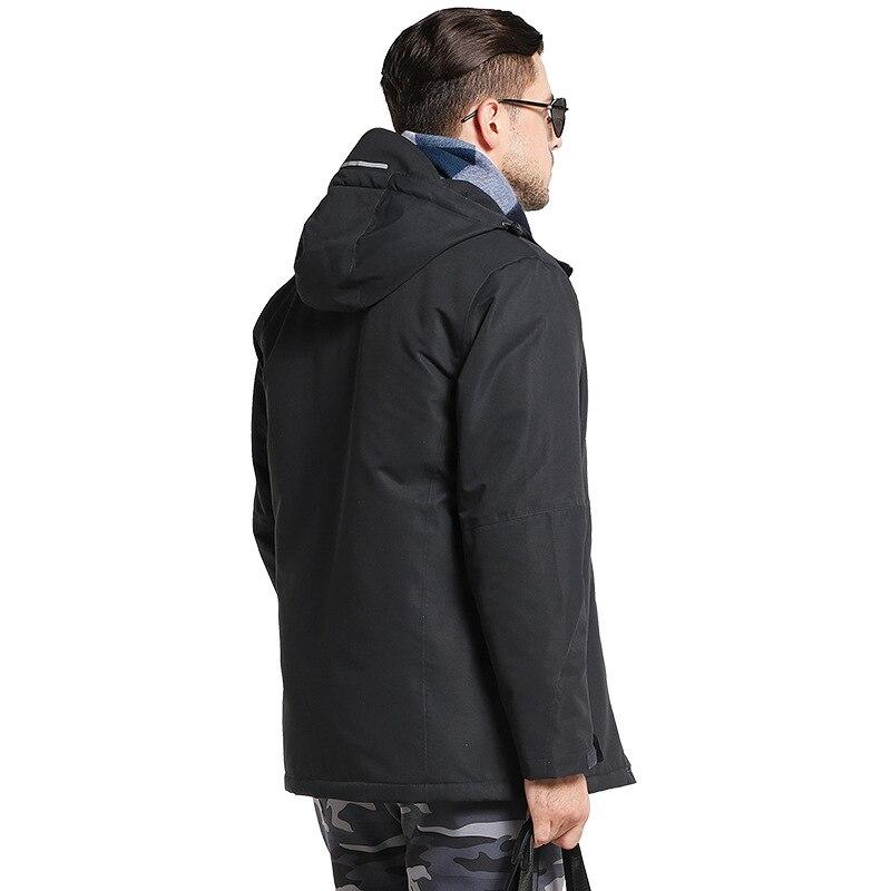 Północnej zima mężczyźni kurtka USB ogrzewanie kobiety wodoodporna kurtki pilotki 2019 na zimno zewnątrz Sport Parka płaszcze twarz wiatroszczelna ubrania w Parki od Odzież męska na  Grupa 2