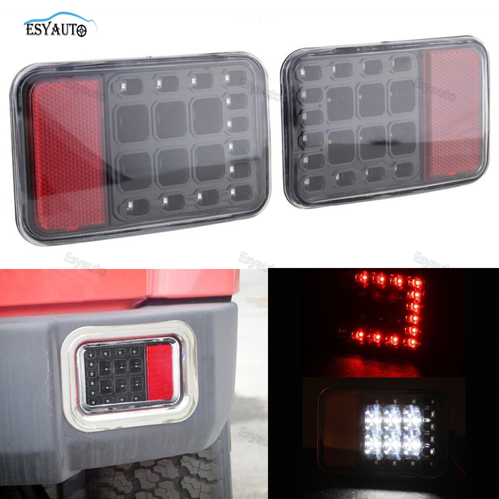 Car LED Light Rear Bumper Fog Light Parking Reverse Car B Lamp Tail lights  for Jeep Wrangler JK 2007-2016 2 Pcs/Set