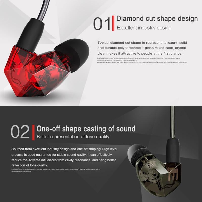 VSONIC VSD3Si Control en línea Micrófono Profesional Auricular con - Audio y video portátil - foto 3