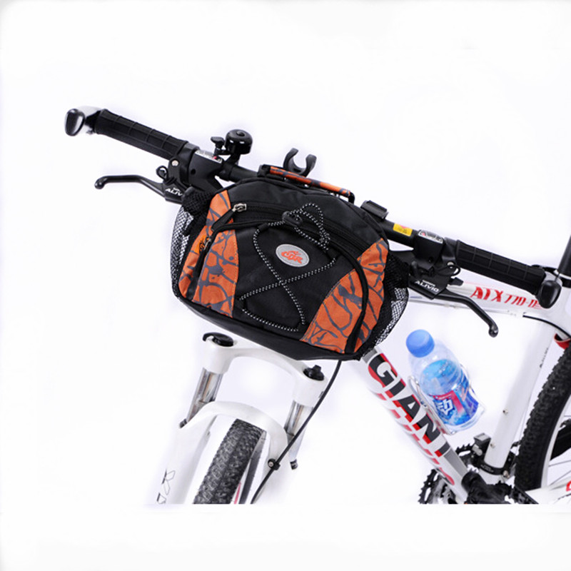 Q166 Free shipping bicycle accessories bicycle handlebar bike bag pockets Cycling package components Bicycle Bags & Panniers     - title=