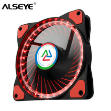 ALSEYE 120mm Computer LED fan cooling 12v 1100RPM silent fan radiator for computer case / cpu cooler  цена и фото