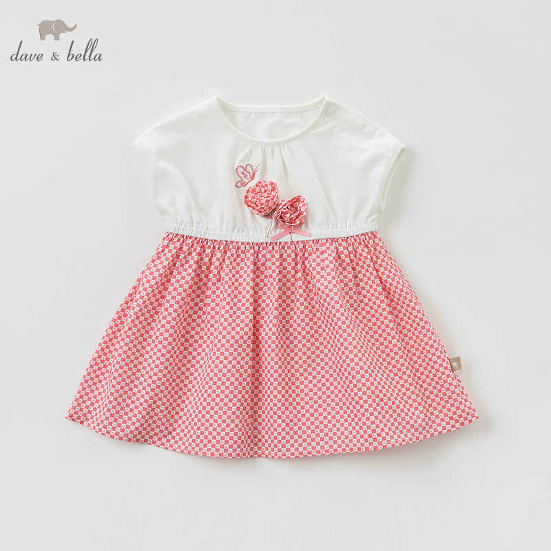 DBM10583 dave bella summer baby girl's princess floral dress children dot party wedding dress kids infant lolital clothes