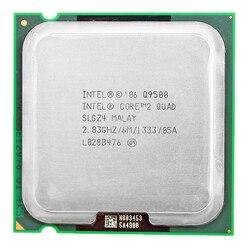 إنتل كور 2 رباعية Q9500 المقبس 775 LGA معالج وحدة المعالجة المركزية (2.83 Ghz/6 M/1333 GHz) سطح المكتب وحدة المعالجة المركزية شحن مجاني