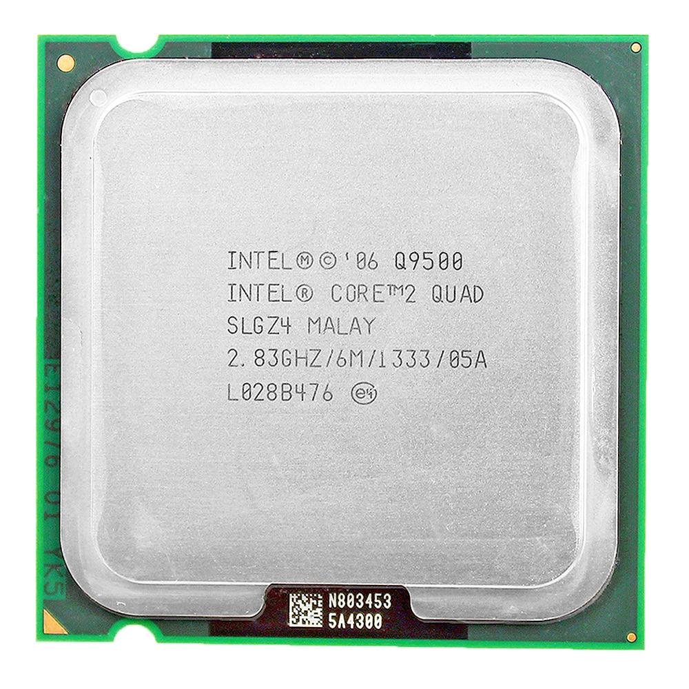 Intel core 2 quad q9500 soquete 775 lga processador cpu (2.83 ghz/6 m/1333 ghz) desktop cpu frete grátis