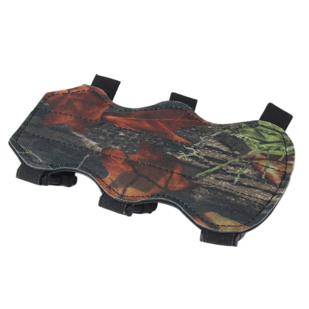 Archery Bow Arm Guard Protection Forearm Safe 3-Strap Camo Leather New drop shipping