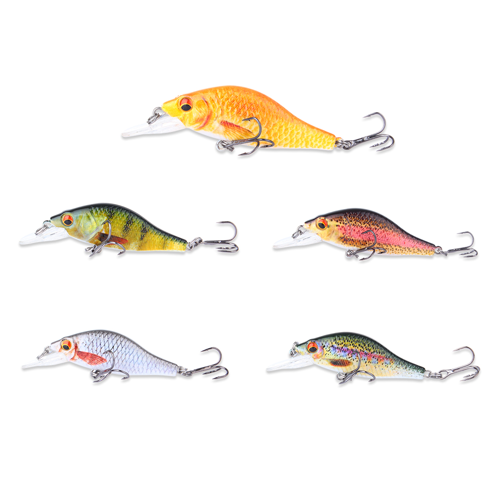 5 Color 3 5 Bionic Fishing Lure Crankbait 10 7g Unique textures Fish Bait 3D Eyes