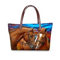 FORUDESIGNS Famous Designer Handbag Women 3D Horse Prints Fashion New Arrivals Shoulder Bags Shop Online Handbags