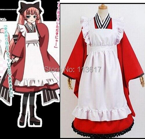 Anime Gugure! Kokkuri san Tama Cosplay Costume Custom TAKO dress maid lolita party dress Any Size
