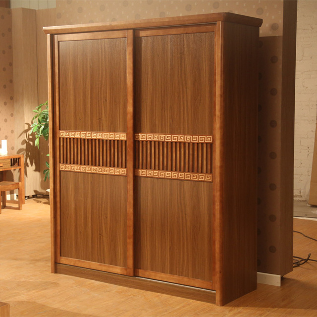 Simple Modern Chinese Furniture Residential Wood Sliding Door Wardrobe Storage Armoire Sub Cheap 6d006