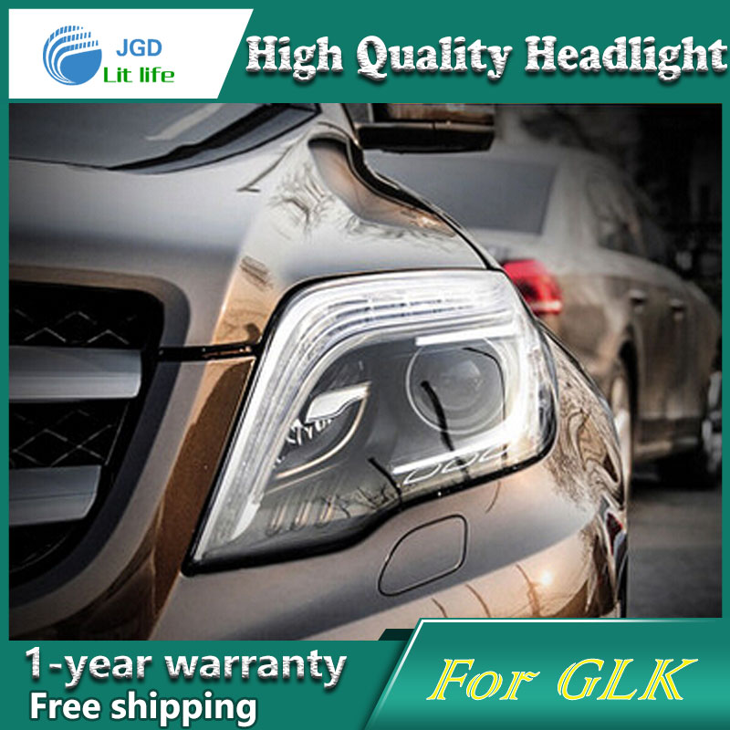 Car Styling Head Lamp case for Benz GLK200 GLK260 GLK300 Headlights LED Headlight DRL Lens Double Beam Bi-Xenon HID Accessories auto part style led head lamp for benz w163 ml320 ml280 ml350 ml430 2002 2005 led headlights drl hid bi xenon lens low beam