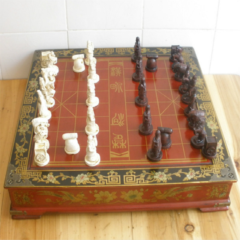 43 5 8 5cm Antique Chinese Chess Set