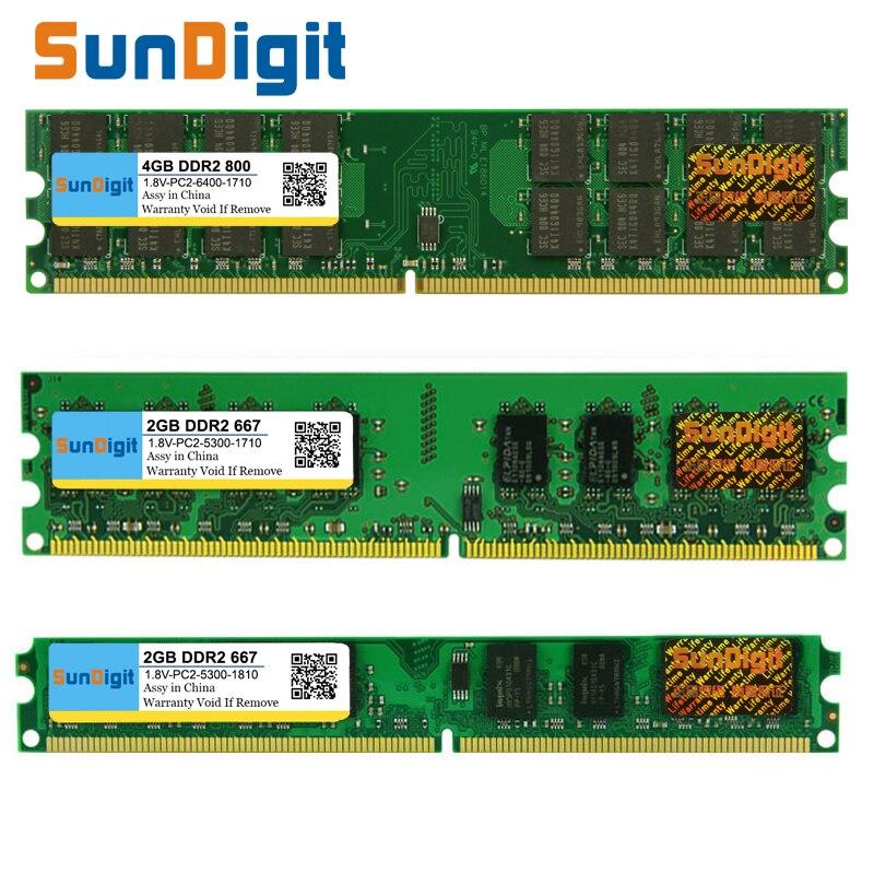SunDigt DDR2 800/PC2 6400 5300 4200 1 GB 2 GB 4 GB Desktop PC RAM Speicher Kompatibel DDR 2 667 MHz/533 MHz Mehrere Modelle DIMM