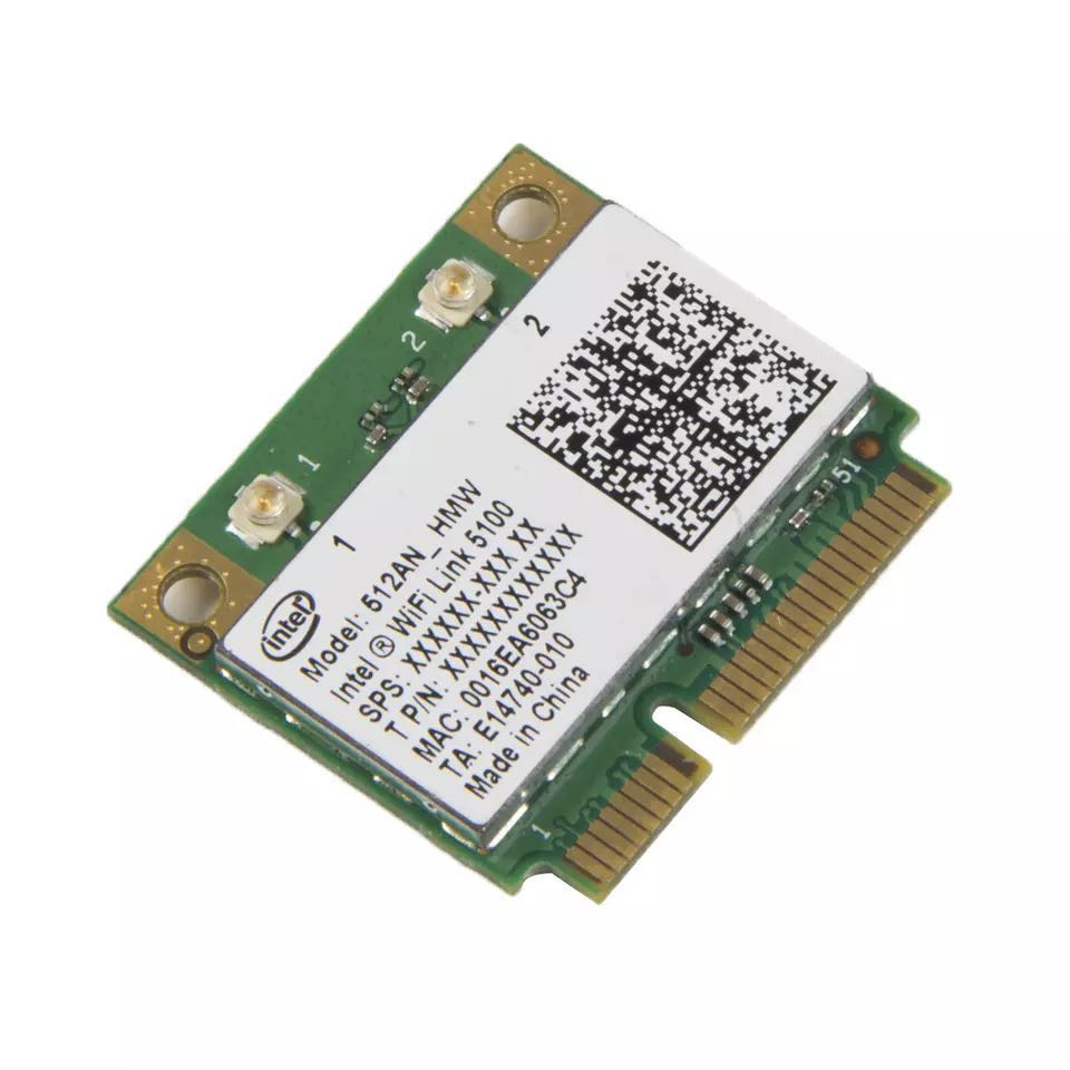 Image 2 - Wireless Wi Fi Network Card Adapter With Intel 5100 512AN_HMW with Half Mini PCI E 802.11a/g/n Dual Band 300Mbps For Laptop-in Network Cards from Computer & Office