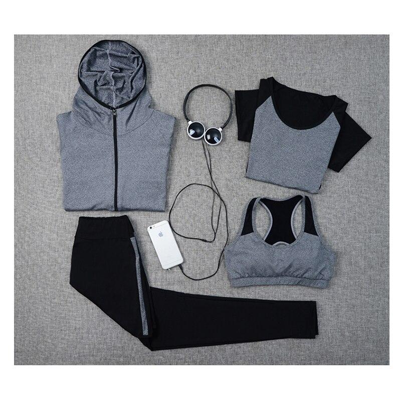 ✔  Verzy 4 Шт. Спортивный Костюм Фитнес Спортивная Одежда Бег Упражнения Спортивные Костюмы Женщины Yog ✔