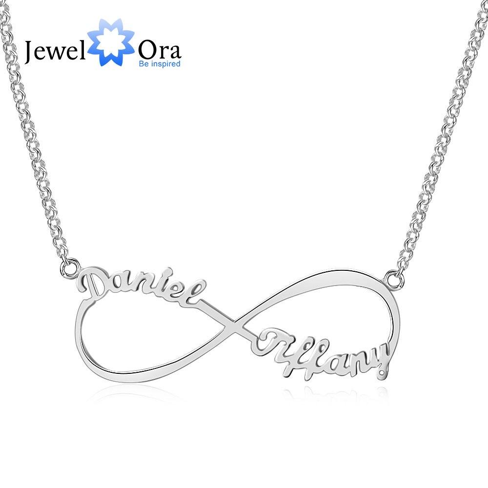 0a4795e7540d Personalizar collar de nombre infinito amor infinito 925 collares de plata  de ley y colgantes regalos de cumpleaños para ella (joyería NE101367) en ...