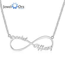 Personalizada Nombre collar Carta Del Personalizar Collar Infinito Endless Love 925 Collares y Colgantes de Plata (JewelOra NE101367)