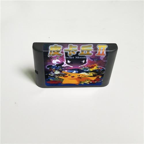 Pocket Monstered II 16 Bit MD Game Card For Sega Megadrive Genesis Video Game Console Cartridge