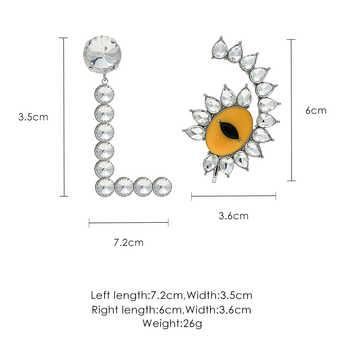 Devil's Eye Asymmetric Design Earrings Women's Temperament Personality Wild Earrings - DISCOUNT ITEM  40% OFF All Category