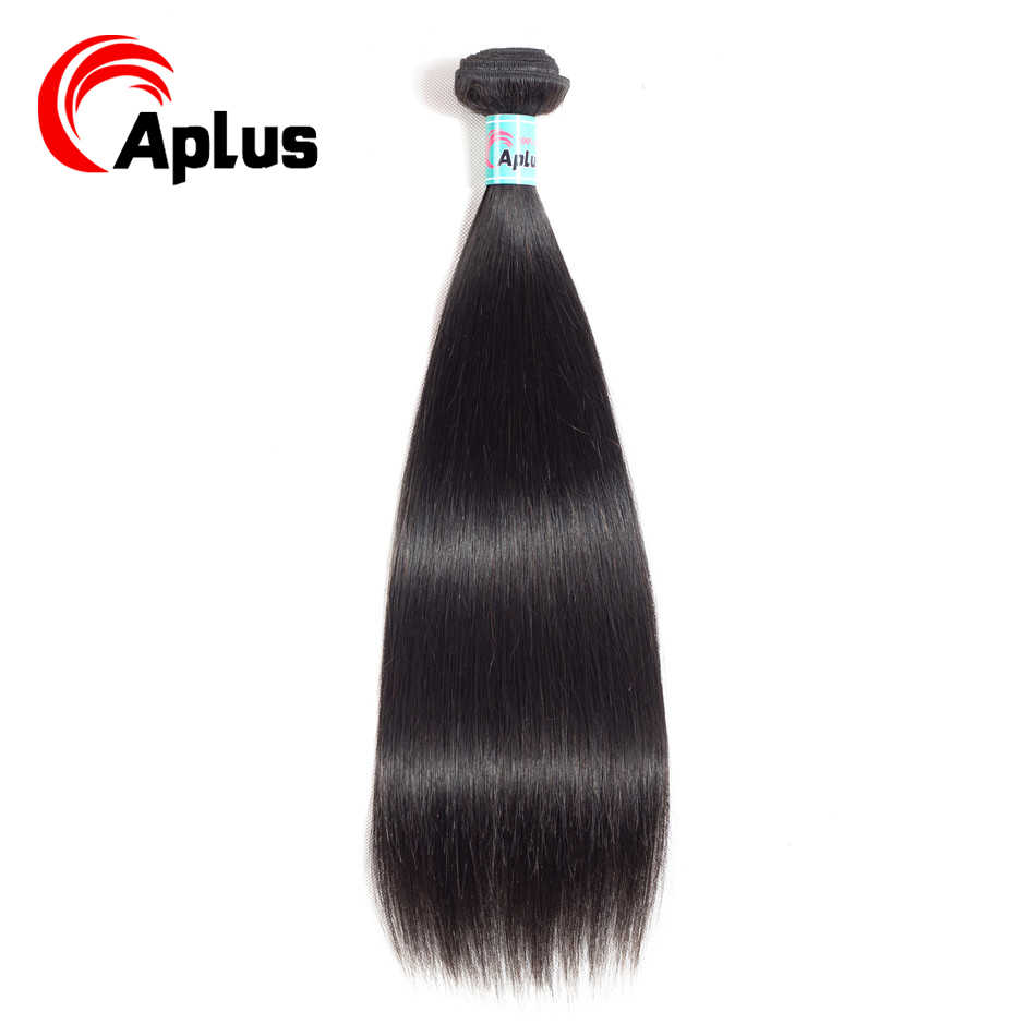Aplus Straight Human Hair 1 Bundle Brazilian Hair Extensions 1 Piece/Lot Natural Black Can buy 3/4 bundles or More Non Remy Hair
