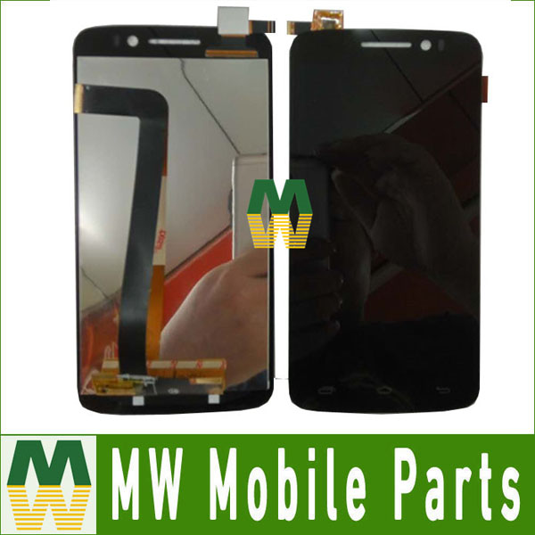 Only Black Color 1PC /Lot For Prestigio MultiPhone PAP7600 LCD Display Screen +Touch Screen Assembely Replacement Part