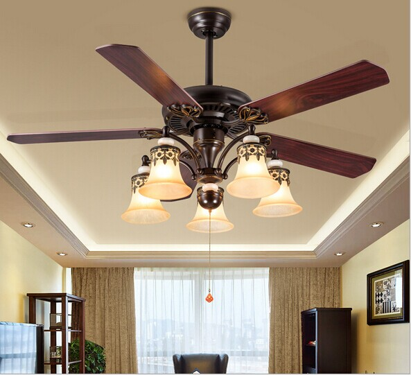 Modern Nordic Dining Room Ceiling Fan AC 220V Home Decoration Fan Restaurant Fan Free Shipping ...