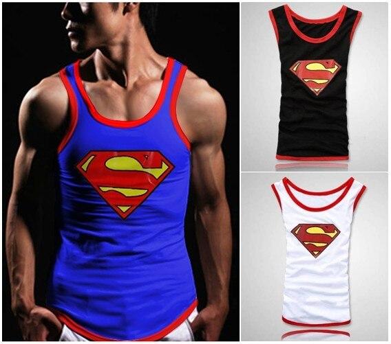 02129abfe1660a 20152014 HOT fashion Mens boys Muscle superman Vest Singlet Underwear Tank  Top