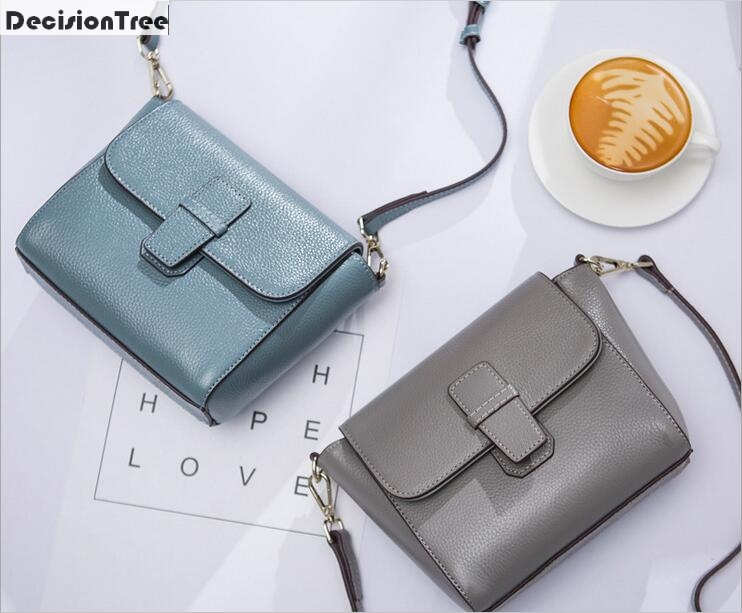 New Arrival Small Square Bag Women Genuine Leather Handbags Ladies Party Shoulder Crossbody Bags Fashion Top-Handle Bags qiaobao 100% genuine leather handbags new network of red explosion ladle ladies bag fashion trend ladies bag