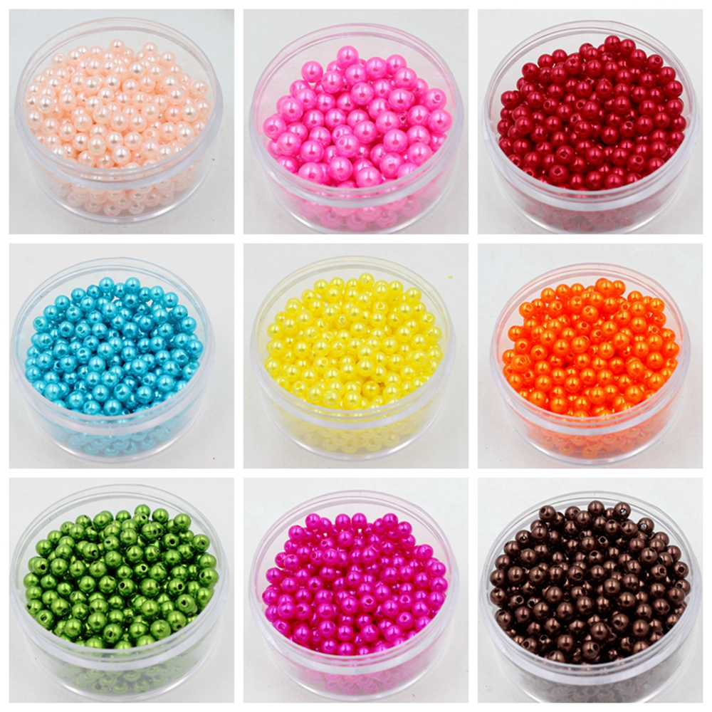 Wholesale 8mm Dia.130pcs/lot Round Pearl Imitation Plastic Pearl Beads Many Colors For You To DIY Fashion Jewelry 貓 帳篷