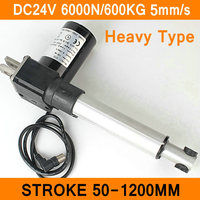 Linear Actuator 24V DC Motor 6000N 8mm S Stroke 50 1200mm Linear Electric Load Motor IP54