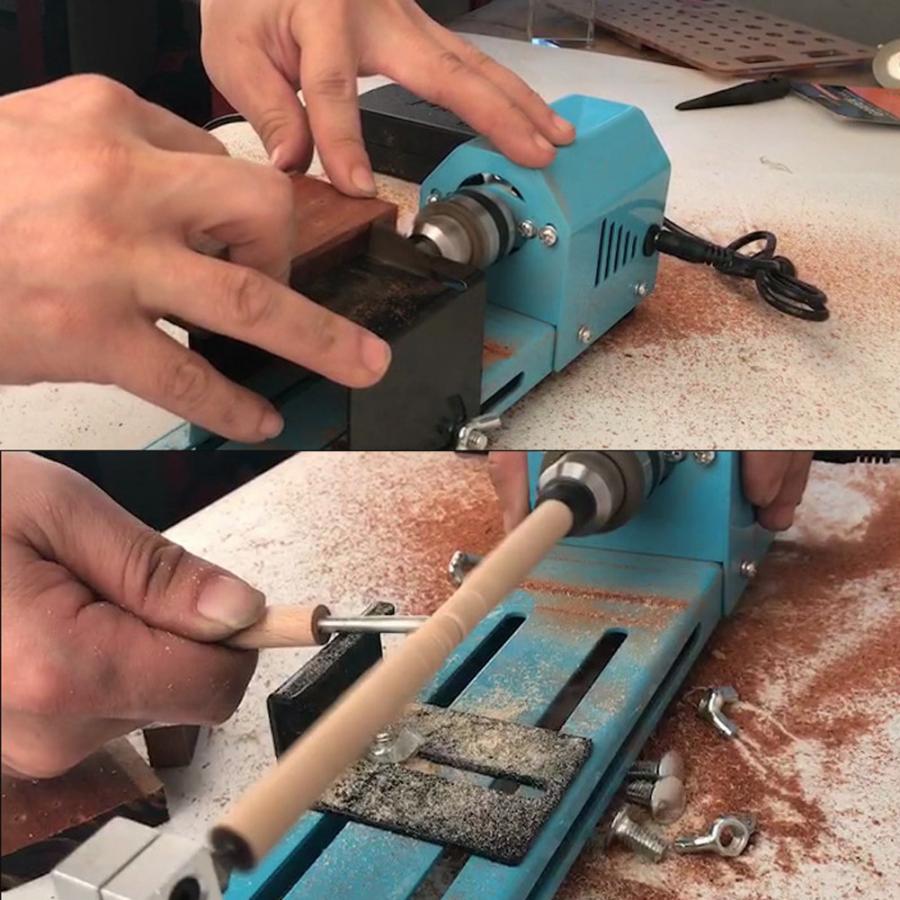 220V leather punching machine Miniature Electric Punching Grinding Machine DIY Wood Lathe Machine CN Plug punch