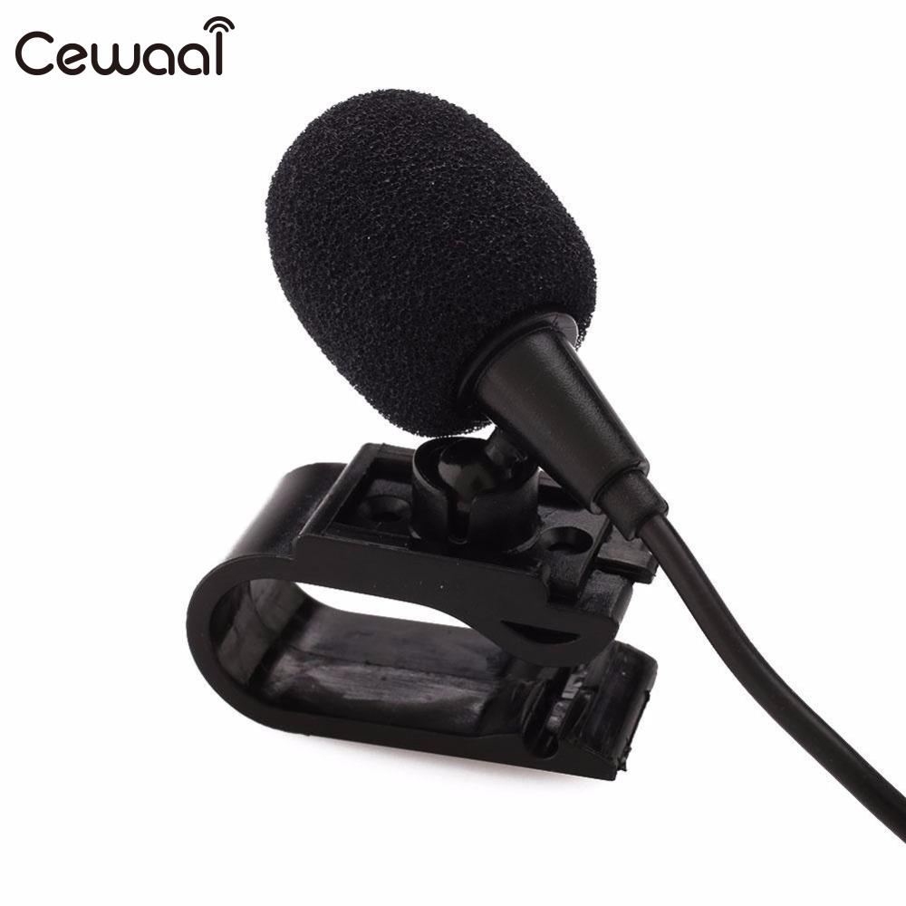 Cewaal Professionals 3.5mm Jack Plug Mini Wired External Microphone Car Mic with Tie Collar Shirt Clip