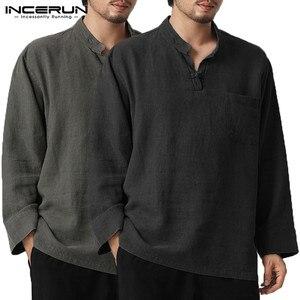 INCERUN Mens T Shirts Fashion