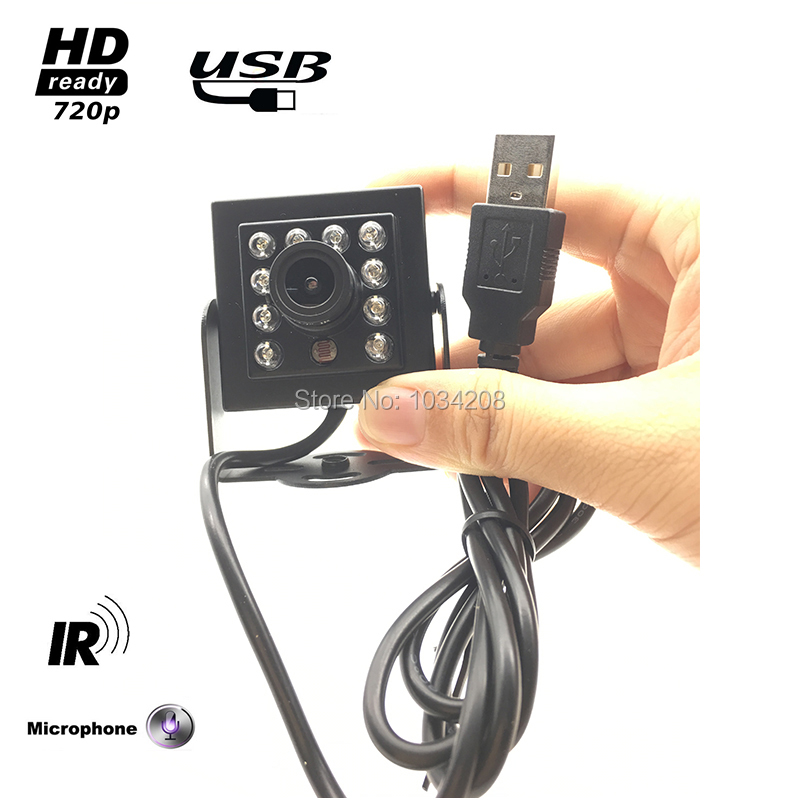 Audio Video 720P 30fps HD Infrared USB Camera Microphone Compatible With Raspberry Pi3 For Inside Car Dashboard Or Front Glass цена