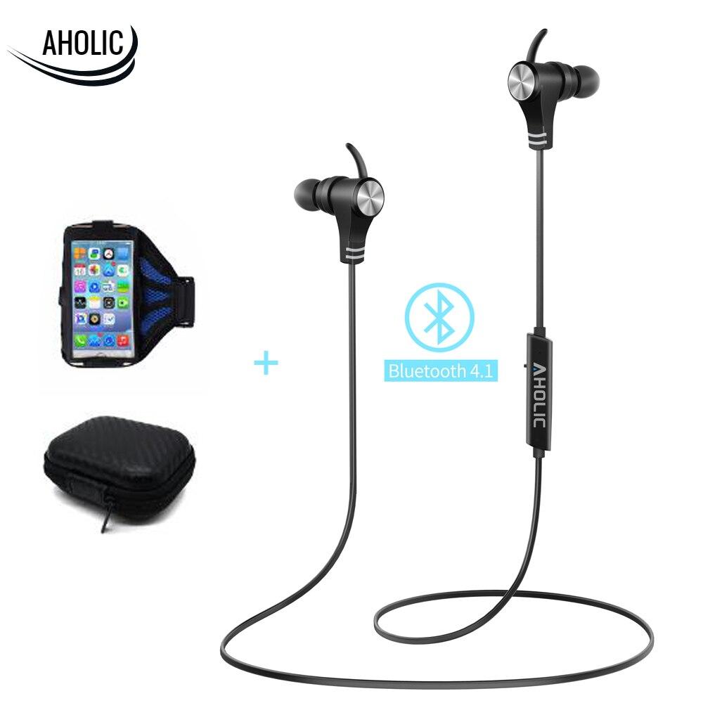 AHOLIC Magnetic Bluetooth Earphone Waterproof IPX7 Bluetooth Earbuds HD Stereo Wireless Headphone for Huawei Xiaomi