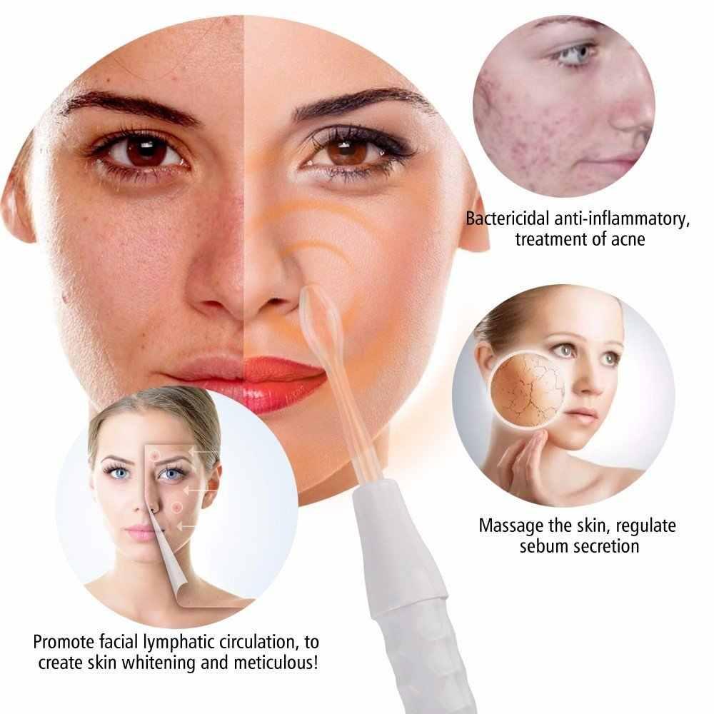 Belleza estrella portátil electrodo varita alta frecuencia máquina Facial acné punto removedor de arrugas alta frecuencia cuidado Facial Spa