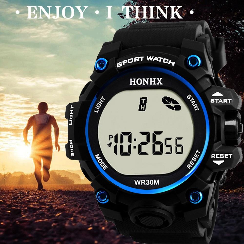 Waterproof Mens Watches New Fashion Casual LED Digital Outdoor Sports Watch Women Multifunction Student Wrist Watch Reloj Hombre