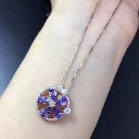 Колье ожерелье Qi Xuan_Fashion ювелирные изделия синий камень ожерелье _ розовое золото цвет Мода синий ожерелье _ прямые продажи с фабрики