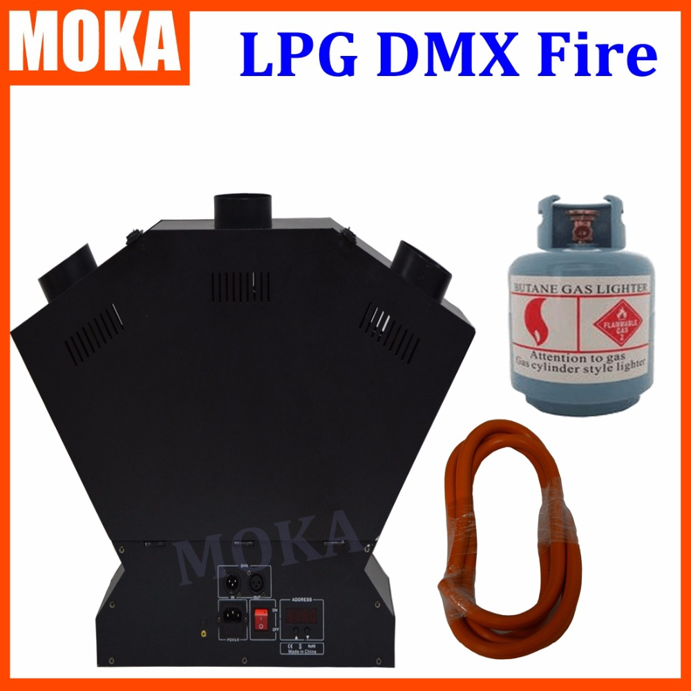 цены  2 PCS/lot LPG Fire Machine for Stage special effect dmx flame machine professional 3 heads stage flame machine