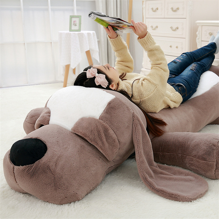 2018 Cute Big Ear Soft Plush Toy Dog Plush Pillow Kawaii Stuffed Animals Plush Cartoon Sofa Cushion Lovely Birthday Gift F39