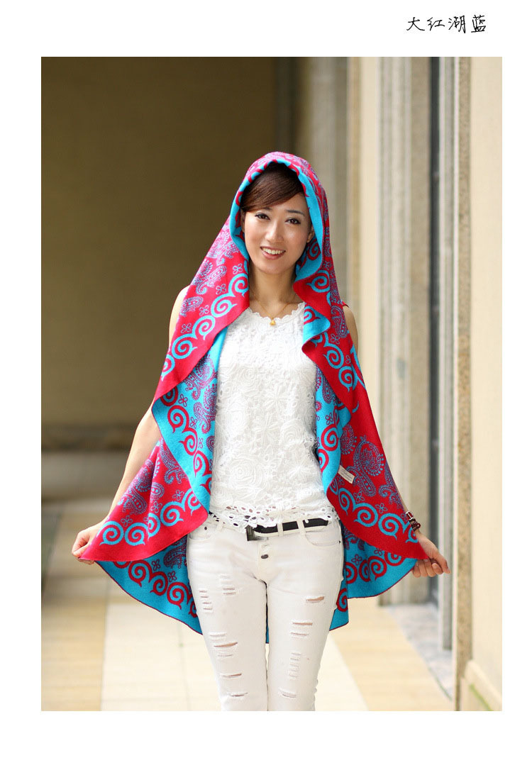 Двусторонняя одежда контрастных расцветок беременных Для женщин шаль беременности и родам шерсти пальто-мантия шаль Девушки, беременные женщины - Цвет: Цвет: желтый