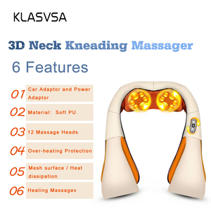 Image 3 - KLASVSA 12 массажных головок, разминающий массажер для шеи и плеч, терапия шейки, уход за здоровьем, облегчение боли в спине и талии