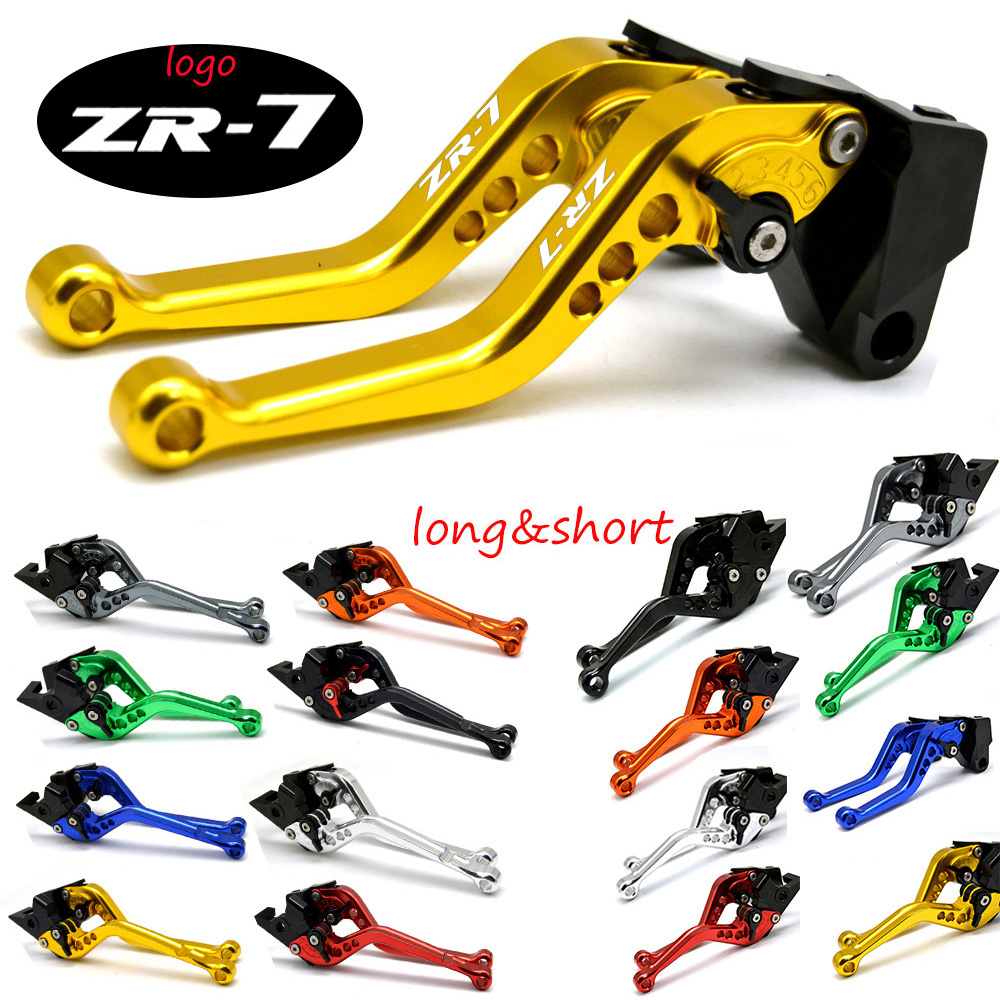 levier leviers levers long CNC or gold Kawasaki ZR-7 ZR7 ZR7S 1999-2005