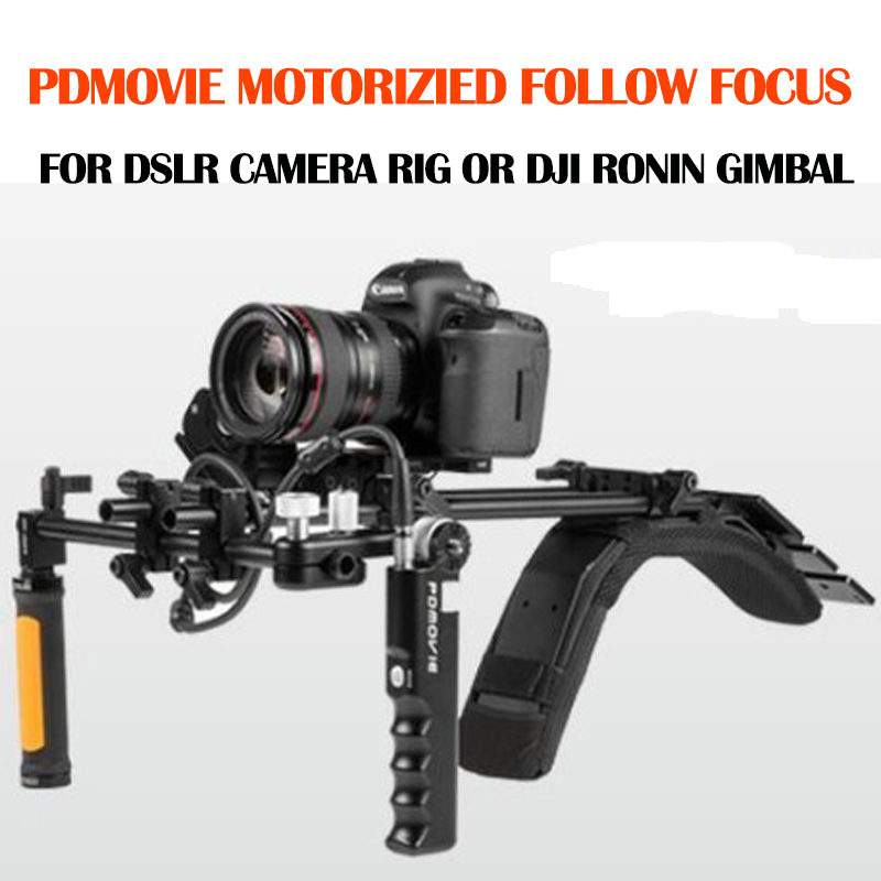 PDMOVIE Zoom Remote Control Motorized Follow Focus for 5D GH5 A7S DSLR Camera Shoulder Rig or DJI RONIN 3-Axis Gimbal Stabilizer pdmovie broadcast eng lens zoom control motorized follow focus for dslr camera shoulder rig dji ronin 3 axis gimbal stabilizer