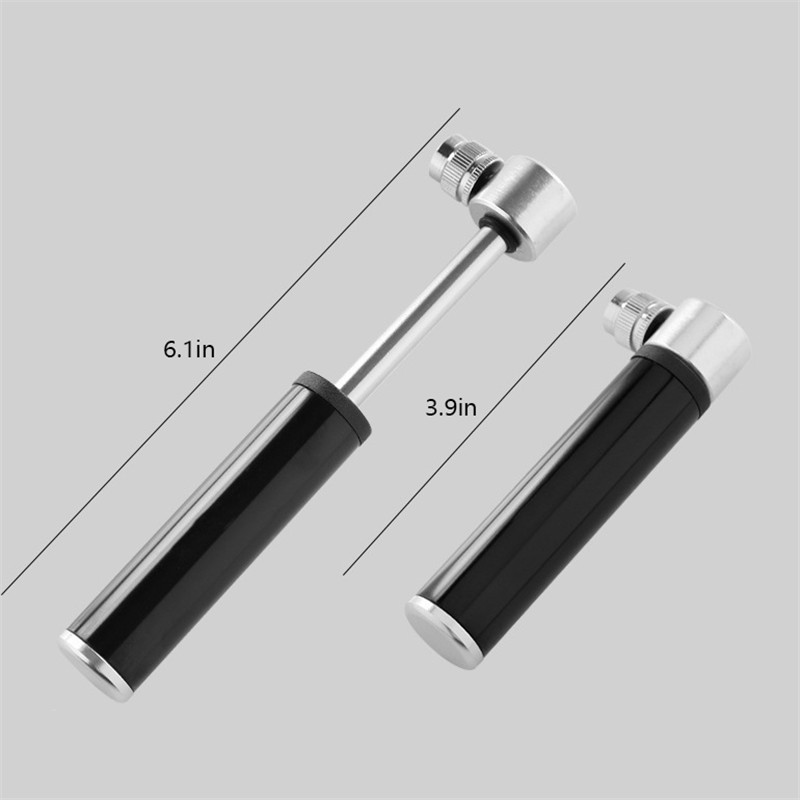Mini Air Pump Aluminum Alloy Bicycle Pump Mini Portable Mountain Cycling Tire Gas Needle Inflator Light Weight Bike Air Pump in Bicycle Pumps from Sports Entertainment