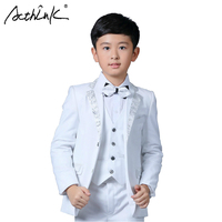 ActhInK New Boys White Blazer Wedding Suit Brand Kids 4PCS Formal Suit with Bowtie Flower Boys Party Tuxedos Costume Suit, C269