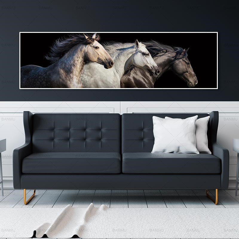 Art prints wall picture no frame Art picture wall home decoration canvas painting horse on canvas and posters wall picture