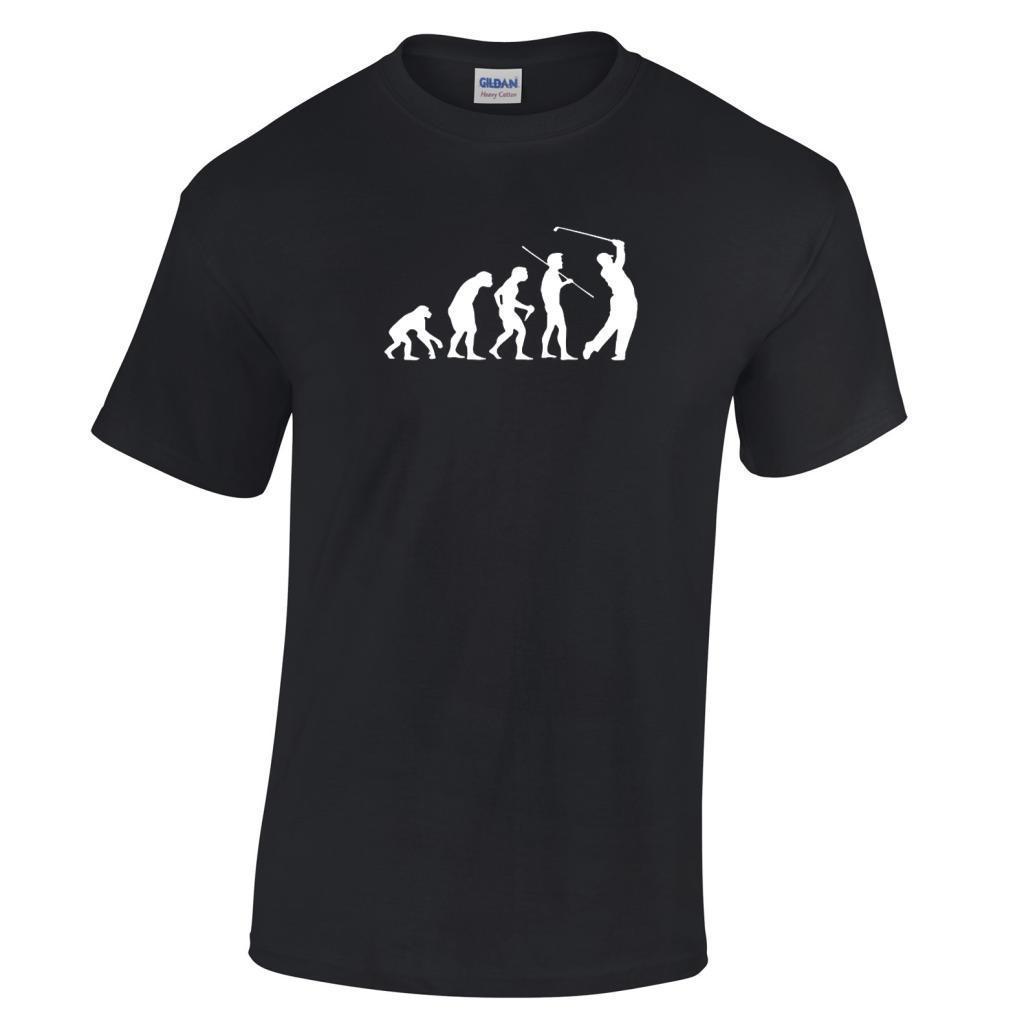 Fashion Sale 100% Cotton Evolution Of A Golfer Gift Funny Golfing Range Crew Neck Short T Shirts For Men