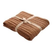 Knitted Blanket Large Soft Warm Winter Bed Sofa Plane Cobertor Blanket Thick Yarn Merino Wool Bulky
