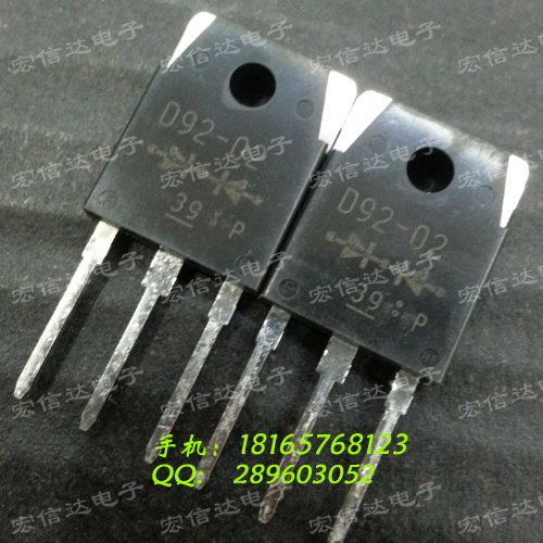 Free shipping 5pcs/lot D92-02 TO-3P fast recovery rectifier diode 20A / 200V new original free shipping 5pcs lot 40cpq100 schottky diode new original